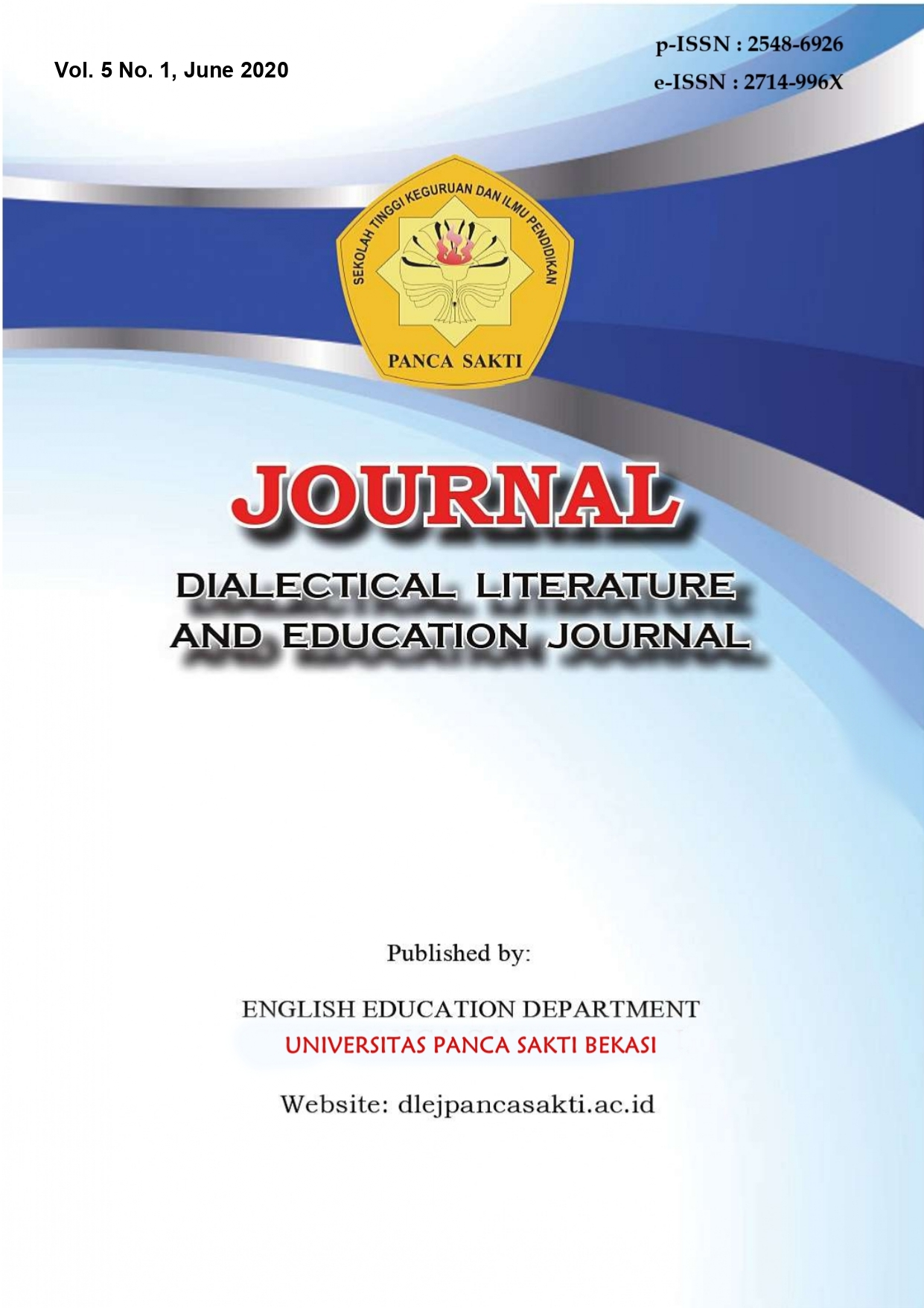 View Vol. 5 No. 1 (2020): Dialectical Literature and Education Journal
